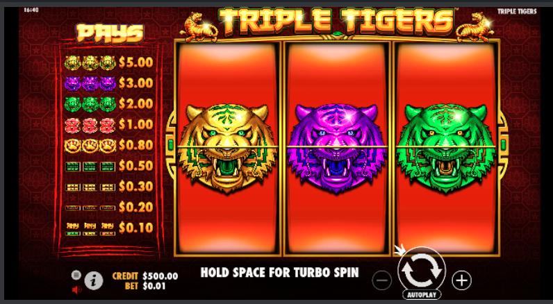 Agen Slot Triple Tigers Pragmatic Play
